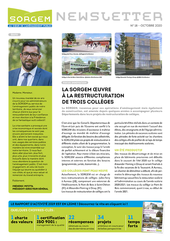 Newsletter SORGEM N°23, oct 2020